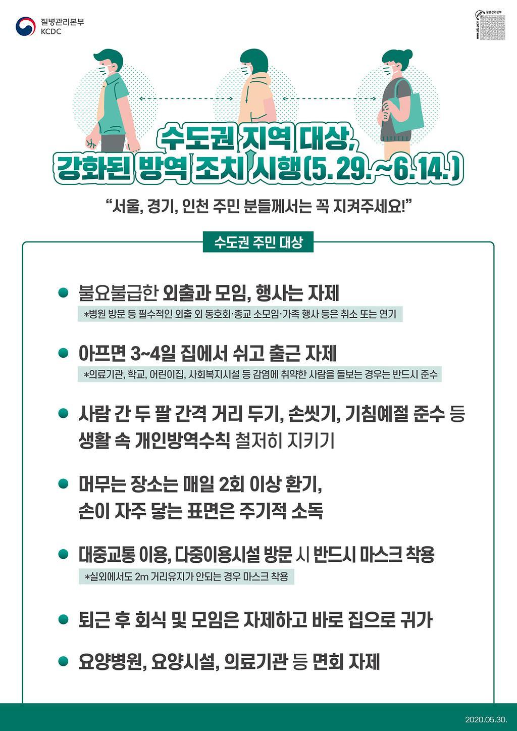 수도권 방역 강화 포스터